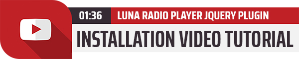 Luna Radio Player Plugin with Audio Visualizer