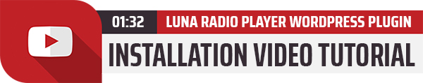 Luna Radio Player WordPress Plugin installation Video Tutorial